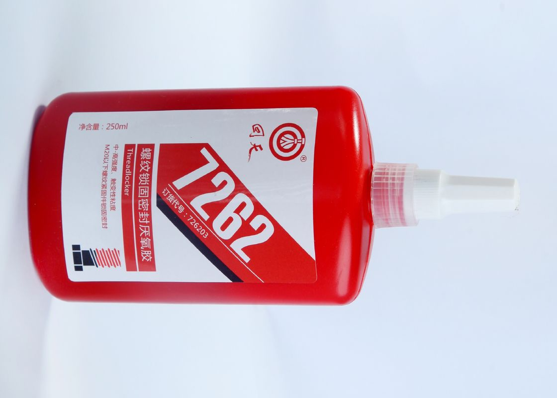 Red Screw Thread Locking Adhesive 7262, Loct. 262, for under M20 thread locker